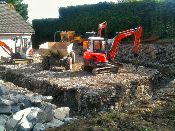 Digging foundations